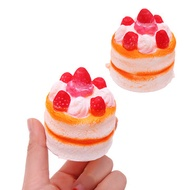 Strawberry Cake Squishy 5.5* 7cm Slow Rising Decompression Gift Soft Toy