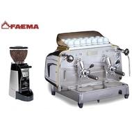 (二手)FAEMA E61 Legend S2 雙孔半自動咖啡機 + FAEMA MF On Demand 定量磨豆機