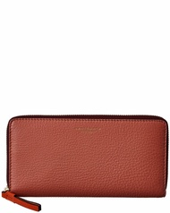 Tory Burch Womens  Perry Colorblocked Leather Zip Continental Wallet