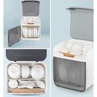 碗盤瀝水架帶蓋碗筷餐具收納盒放碗碟架滴水碗盤置物架碗櫃塑膠