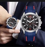 DIVEST jam tangan pria Gelang olahraga priaArloji Tali Karet Kasual Quartz Militer Tahan Air Konogafi