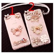 OPPO A31 A5 A9 2020 A12 A12E  A5S A7 A52 A92 A3S Reno 2 2Z 2F  Transparent glitter girl diamond mobile clear soft phone case