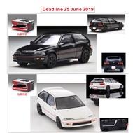 #汽車玩具特惠#10月 Tomy Tomytec TLV 香港限定 Honda Civic SiR II Group