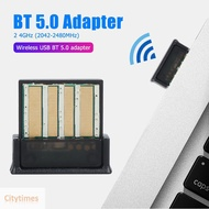 CT Portable Bluetooth 5.0 Receiver Transmitter Wireless USB Adapter for Audio Music