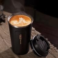 【PUSH!】餐具用品304不鏽鋼510ml帶蓋咖啡保溫杯隨手杯(E119)