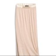 有樂趣買®️便宜出清✨轉賣pazzo MIT 甜美女孩 細百摺 雪紡長裙 杏色M號 原價980元