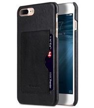 Melkco. - Apple iPhone 8 Plus / 7 Plus 高級真皮插卡手機背殼 (黑色)