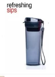 tupperware black sip flask 400ml - tupperware oversea