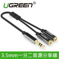 綠聯 3.5mm一分二音源分享線