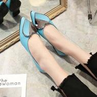 รองเท้า คัชชู หัวแหลม แฟชั่นผู้หญิงสไตล์เกาหลี รองเท้าแฟชั่นผู้หญิง NO. F 081