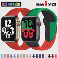 Silicone Sports Band for Apple Watch 5 4 3 2 38MM 42MM Bands Rubber Watchband Strap for Iwatch series 5 4 40mm 44mm Accessories