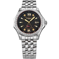 【BOSSWAY】豪邁經典機械腕錶(黑-48mm)