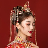 秀禾服頭飾新娘中式結婚奢華大氣鳳冠流蘇中國風古裝漢服頭飾套裝 至簡元素