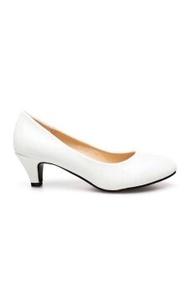 5T&P รองเท้าแฟชั่นคัชชูส้นสูงผู้หญิง สีขาว
