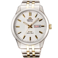 Orient Watch Large Dial Mechanical Steel Band Men's Watch