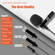Lavalier Microphone Professional Lapel Microphone Omnidirectional Mic with Type C/Lightning/3.5mm Jack for Podcast Recording Interview Youtube Voice Dictation Vlogging iPhone PC Computer Laptop