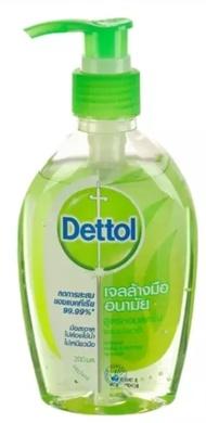 Dettol เดทตอล เจลล้างมือแอลกอฮอลล์  สูตรหอมสดชื่นผสมอโลเวล่า ลดการสะสมแบคทีเรีย 200 มล. หมดอายุ 03/22
