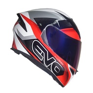 EVO GSX-3000 Apex Full Face Dual Visor Helmet with Clear and SMOKE Lens (New Foam Set)