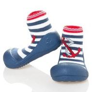 韓國【Attipas】快樂腳襪型學步鞋-水手深藍 XL【紫貝殼】