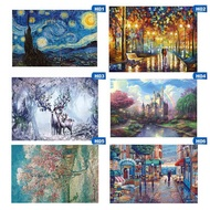 Hunanweiyao New Children Adult 1000 Pcs Paper Jigsaw Puzzles Landscape Paintings Puzzle Children Jigsaws Educational Toy