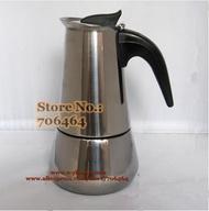 """""""V"""" YH102 2ถ้วยคุณภาพสูงเครื่องทำกาแฟโมก้า/Moka PotEspresso กาต้มน้ำเหล็กกล้าไร้สนิม Moka เครื่องชงกาแฟ"""