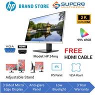 [Shop Malaysia] HP 24mq 23.8-inch IPS Monitor (vga and hdmi available, qhd 2k display)