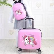 กระเป๋าเดินทางพร้อมกระเป๋าล้อลากชุด18 เด็กการ์ตูนพกพากระเป๋าเดินทางกระเป๋าเดินทางของขวัญเด็กกระเป๋าเป้สะพายหลัง
