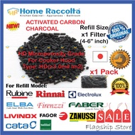 "Refill Charcoal For Cooker Hood For x1 pc Filter (4-6 inch) Refill Charcoal For Rubine Elba Electrolux Zanussi Tellini Rinnai Faber For 1pc Filter (4-6""inches)"