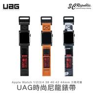 UAG Apple watch 38 40 42 44 mm 不鏽鋼 扣環 時尚 尼龍 腕帶 錶帶 替換錶帶