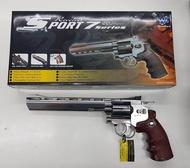 ปืนบีบีกันทรงลูกโม่ WG703s สีเงิน ลำกล้อง 8  แถมฟรี Co2+ลูกเซรามิค 1000 นัด