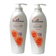進口Enchanteur玫瑰系列身體香水乳液-400ml-橘玫瑰-二入組