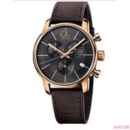 旎*CITY系列三眼多功能石英男士腕錶K2G276G CK手錶 Calvin Klein手錶 ck手錶ck男錶