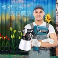 藤原電動噴槍乳膠漆噴塗機油漆噴漆搶氣動塗料高霧化噴漆槍工具