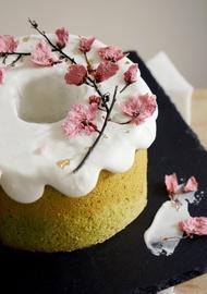【體驗】烘焙課程-鹽漬櫻花抹茶紅豆戚風蛋糕