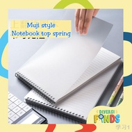 ♦┋MUJI Style Spiral Notebook / Steno - Size A5 and B5 LINE,PLAIN, DOT GRID