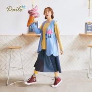 【Dailo】怪獸圖案拼接女無袖-外套(二色/版型適中)