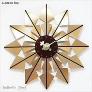 E&J【B19012】a.cerco Butterfly Clock 蝴蝶掛鐘 經典設計/北歐風/loft風