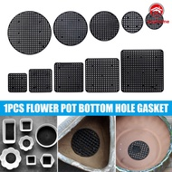 *Wayhome* Plastic Flower Pot Bottom Hole Mesh Potted Plant Prevent Soil Loss Net Tools Black