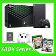 XBOX Series X 台灣專用機+Game Pass 3個月+無線控制器(冰川白)+XB1俠盜獵車手5特別版+XB1為戰而生亞中版