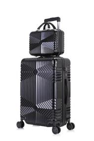 20''24''28นิ้วกระเป๋าเดินทางชุดกระเป๋าเดินทางบนล้อ,กระเป๋าเดินทางแบบลาก,ทองคำสีกุหลาบ ABS กระเป๋าลากผู้หญิง,กระเป๋าเดินทาง,พกพา