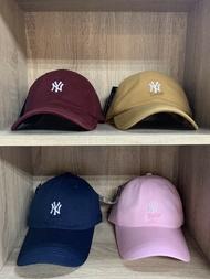 【毒】MLB NYY 紐約洋基 LOGO 老帽 棒球帽 可調式 黑 白 粉紅 深藍 卡其 酒紅 六色