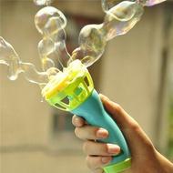 Electric Bubble Machine Fan Blowing Bubble Gun Kids Playing Game Toy