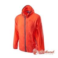 【Wildland 荒野】男 15D超輕低防水高透氣外套-橘色 0A62910-84(透氣外套/外套/連帽外套/衝鋒衣)