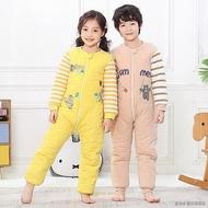 ❈寶寶睡袋秋冬加厚款男童女童兒童防踢被大童連體睡衣冬季純棉分腿