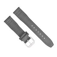 22MM Canvas Leather Watch Band Strap for IWC Pilot TOP Gun Portuguese Grey