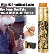【Free Shipping + Flash Deal】5PCS Tower Mod Tube 18650 mechanical mod kit with AXIS rda Black Snake - Bras