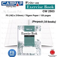 Campap Write-On CW2503 F5/ 70gsm / 120 pages Exercise Note Book (pack/10 books)