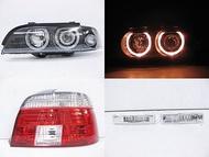~~ADT.車燈.車材~~BMW E39 改01年式樣 光圈大燈+光柱尾燈+晶鑽側燈本月特價一套12000 DEPO製