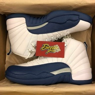 男生 BEETLE NIKE AIR JORDAN 12 RETRO 喬丹 AJ12 白藍 130690-113 9 D-624 US 9