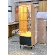 木腳工業風 公仔櫃 全一 玻璃展示櫃 公仔櫃.工業風玻璃展示櫃.樂高櫃.鋼彈玻璃櫃.工業風模型櫃.工業風展示櫃 木腳櫃